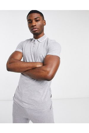French Connection Men Polo Shirts - Piping polo in light