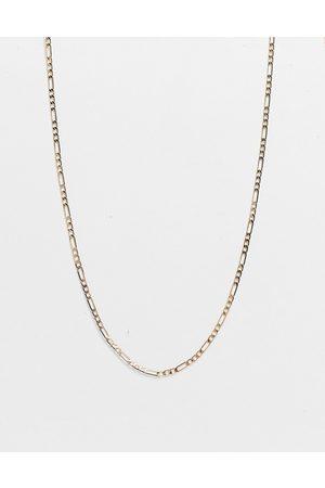 DesignB London DesignB figaro skinny chain necklace in