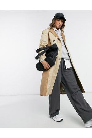 VERO MODA Longline trench coat with pannels in -Neutral