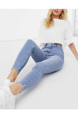 River Island Women Skinny - Kaia high rise skinny jeans in light auth