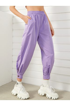 YOINS Side Pockets Stretch Waistband Pants