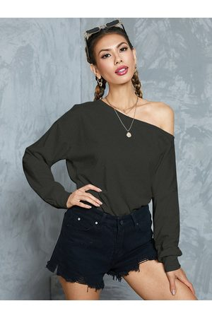 YOINS One Shoulder Design Long Sleeves Sweatshirt
