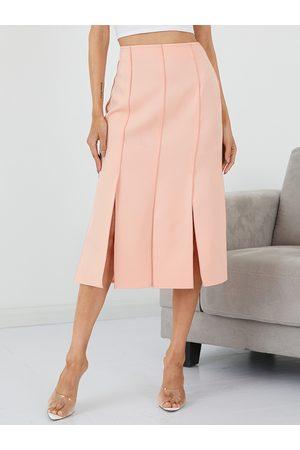 YOINS High Waisted Split Hem Midi Skirt