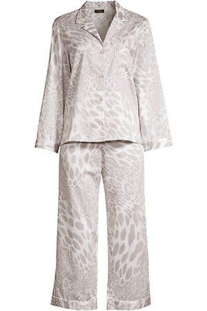Natori Women Bathrobes - 2-Piece Printed Cotton Sateen Pajama Set