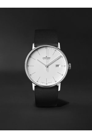 Junghans Men Watches - Form A 40mm Automatic Stainless Steel and Leather Watch, Ref. No. 027/4730.00