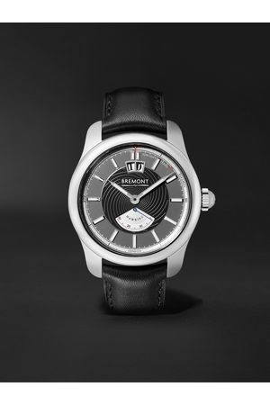 Bremont Men Watches - Hawking Limited Edition Automatic 41mm Stainless Steel and Leather Watch