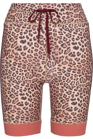 The Upside Women Shorts - Spin leopard-print biker shorts