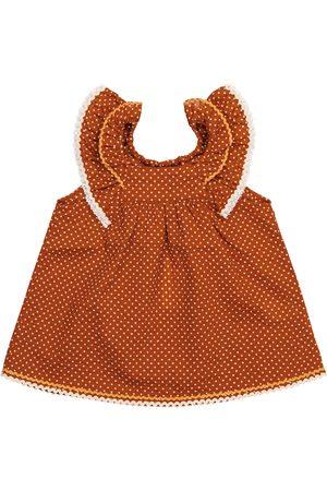 Caramel Baby Dresses - Baby Mulloway polka-dot cotton dress