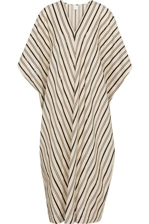 Max Mara Women Beachwear - Nebbie striped linen-blend kaftan