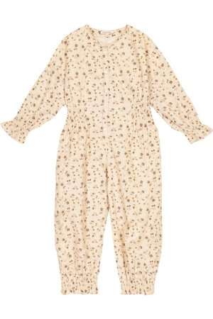 Caramel Girls Printed Dresses - Anemone floral cotton jumpsuit