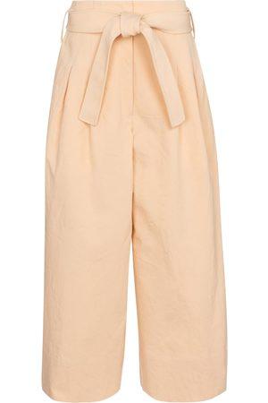 Jil Sander Belted cotton wide-leg pants