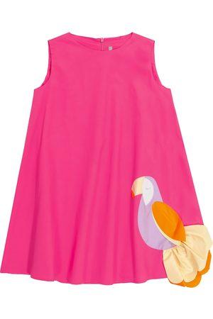 Il gufo Women Party Dresses - Appliquéd stretch-cotton dress