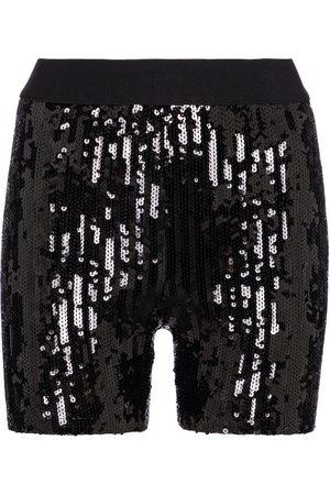 JUNYA WATANABE Women Shorts - Sequined high-rise biker shorts