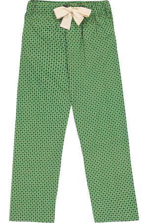 Caramel Dolphin printed cotton pants