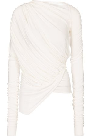 Rick Owens Women Tops - Lilies draped asymmetric top