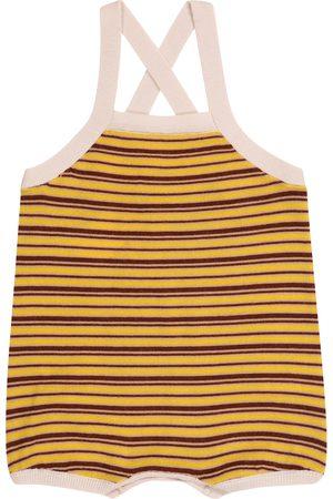 Caramel Baby Whaleshark striped wool bodysuit