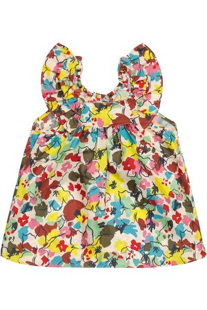 Caramel Baby Printed Dresses - Baby Mulloway floral silk dress