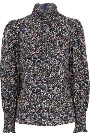 VERONICA BEARD Women Blouses - Gaia paisley cotton blouse