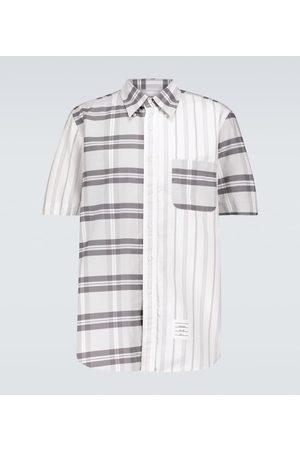 Thom Browne Men Short sleeves - Fun-Mix short-sleeved striped shirt