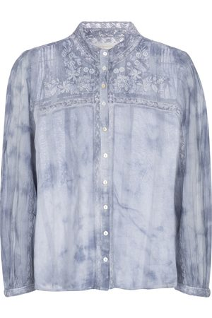 LOVESHACKFANCY Ronda tie-dye cotton shirt