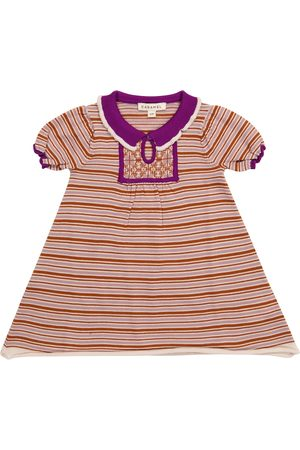 Caramel Baby Dresses - Baby Narwhale striped wool dress