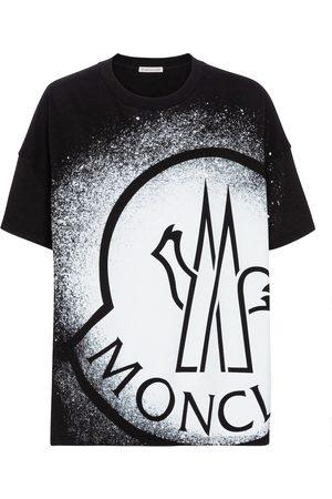 Moncler Women Short Sleeve - Logo cotton jersey T-shirt