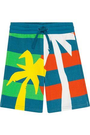 Stella McCartney Striped organic cotton shorts
