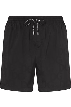 Dolce & Gabbana Men Swim Shorts - DG tonal swim shorts
