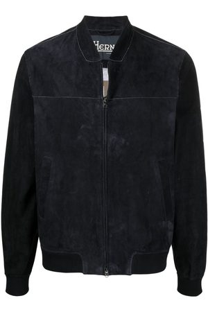 HERNO Men Bomber Jackets - Contrast-stitch collarless bomber jacket
