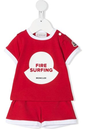 Moncler Baby Shorts - Fire surfing-print short set
