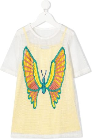 Stella McCartney Embroidered butterfly dress