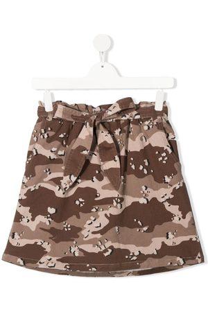 DOUUOD KIDS TEEN camouflage-print skirt