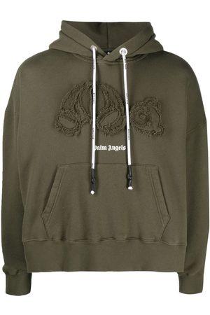 Palm Angels Men Sweatshirts - Bear-motif hoodie