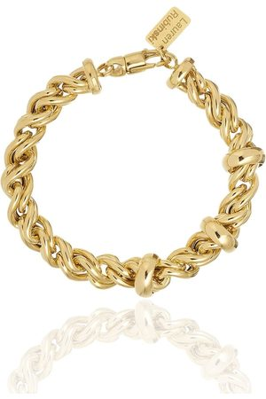 Lauren Rubinski 14K yellow rope-chain bracelet