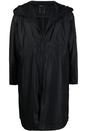 ATTACHMENT Mid-length zipped raincoat