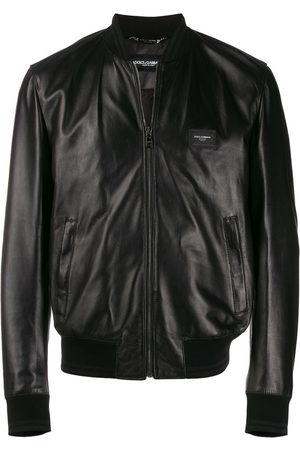Dolce & Gabbana Men Bomber Jackets - Logo plaque bomber jacket