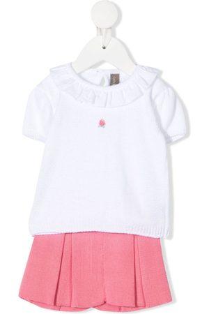 LITTLE BEAR Pleated-knit skirt
