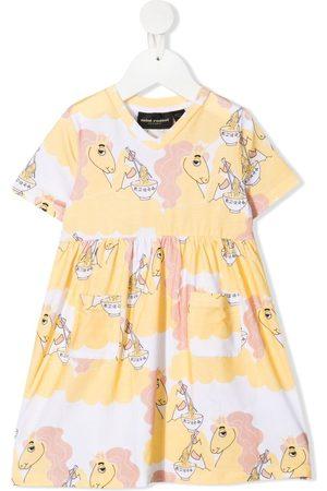 Mini Rodini Baby Casual Dresses - Unicorn Noodles print dress