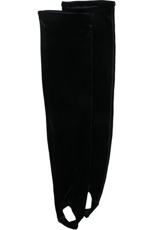 Simone Wild Velvet-effect aerobic tights