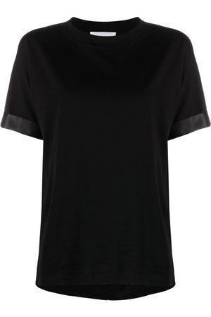 Fabiana Filippi Women Short Sleeve - Satin-trim T-shirt