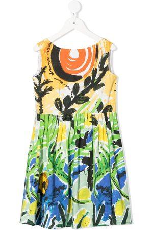 Marni Girls Casual Dresses - All-over print dress