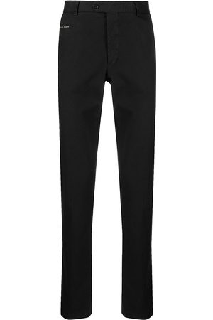 Philipp Plein Logo-plaque straight leg chinos