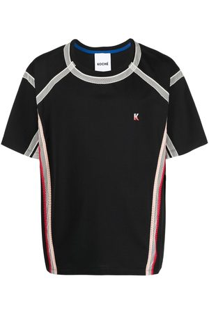 KOCHÉ Men Short Sleeve - Lace-trimmed T-shirt