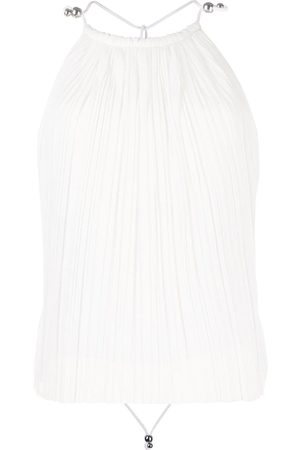 DION LEE Women Blouses - Open back pleated blouse