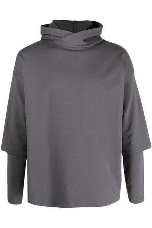 Alchemy Men Sweatshirts - Layered drop-shoulder hoodie