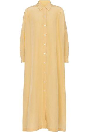 Jil Sander Women Maxi Dresses - Cotton and silk maxi dress
