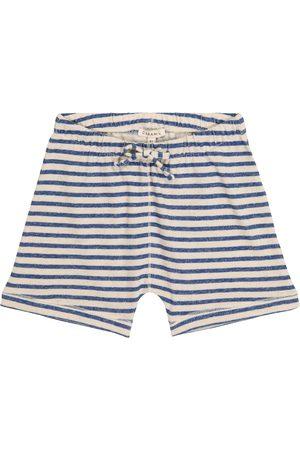Caramel Boys Shorts - Piranha striped cotton and linen shorts