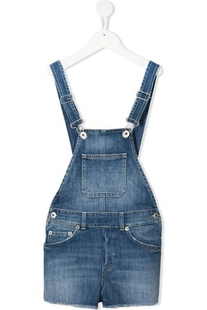 Dondup Girls Dungarees - Faded-effect denim dungarees