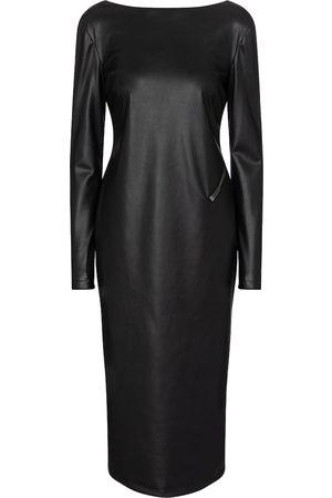 Tom Ford Women Midi Dresses - Faux leather midi dress