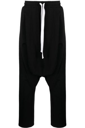 Alchemy Men Stretch Pants - Stretch-cotton drop-crotch trousers